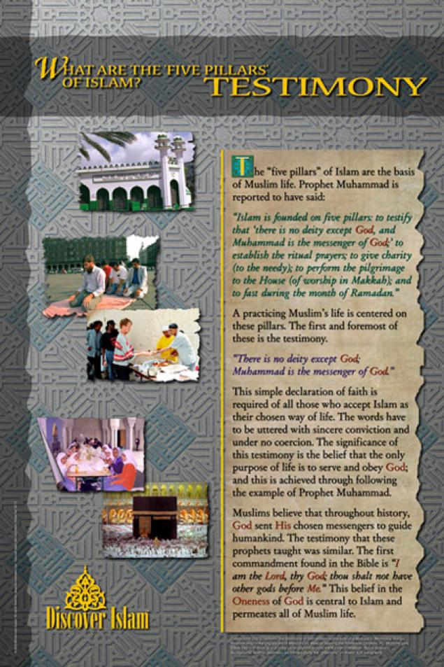 what are the central beliefs of islam and how are they reflected in the five pillars How are the central beliefs of islam reflected on the five pillars of islam i have read about the day of judgement some one who have lived a life of good merit will go to heaven and those who have not will go to hell.